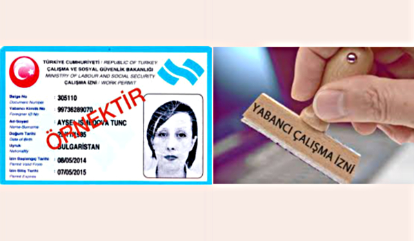 Образец разрешения на работу в Турции