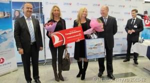 Turkish Airlines встретила своего полумиллионного клиента в Москве